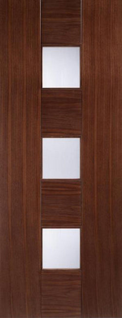 LPD Internal Walnut Catalonia Glazed Door-Door Store Rotherham