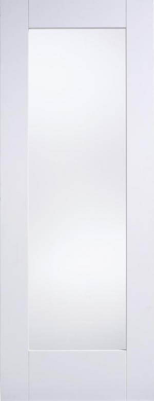 LPD Internal White Primed 1 Light Glazed Shaker Door-Door Store Rotherham