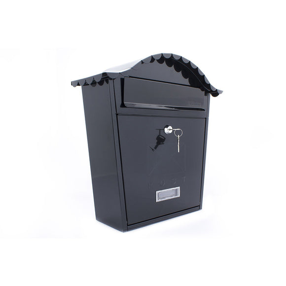 Sterling Post Box MB01 in Black-Door Store Rotherham