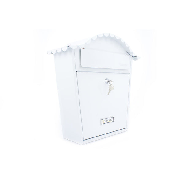 Sterling Post Box MB01 in White-Door Store Rotherham