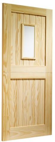 XL Joinery External Clear Pine Dowelled Stable 1 Light with Clear Glass Door-Door Store Rotherham
