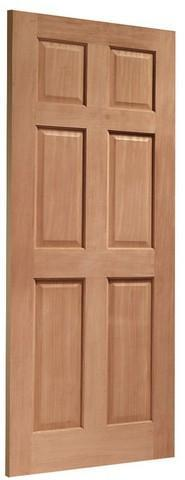 XL Joinery External Hardwood Dowelled Colonial 6 Panel Door-Door Store Rotherham
