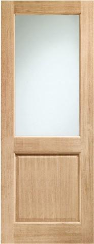 XL Joinery External Oak Dowelled Double Glazed 2XG with Clear Glass Door-Door Store Rotherham