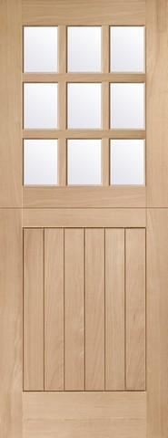 XL Joinery External Oak Mortice & Tenon Double Glazed Stable 9 Light with Clear Glass Door-Door Store Rotherham