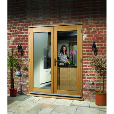 Xl Joinery External Pre Finished Oak La Porte French Door Set Door