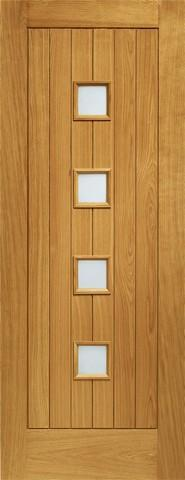 XL Joinery External Pre-Finished Siena Oak Door with Obscure Glass-Door Store Rotherham