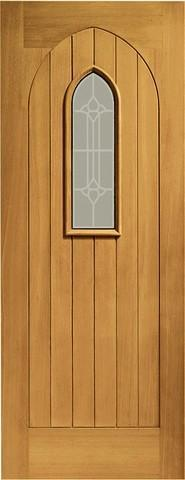 XL Joinery External Pre-Finished Westminster Oak Door with Decorative Glass-Door Store Rotherham