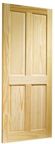 XL Joinery Internal Clear Pine Victorian 4 Panel Fire Door-Door Store Rotherham