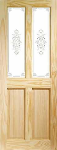 XL Joinery Internal Clear Pine Victorian with Campion Glass Door-Door Store Rotherham