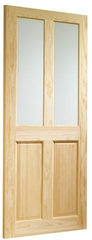 XL Joinery Internal Clear Pine Victorian with Clear Glass Door-Door Store Rotherham