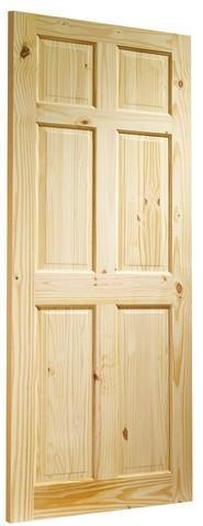 XL Joinery Internal Knotty Pine Colonial 6 Panel Door-Door Store Rotherham