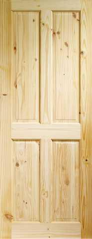 XL Joinery Internal Knotty Pine Victorian 4 Panel Door-Door Store Rotherham