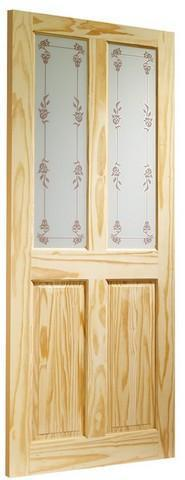 XL Joinery Internal Knotty Pine Victorian with Bluebell Glass Door-Door Store Rotherham