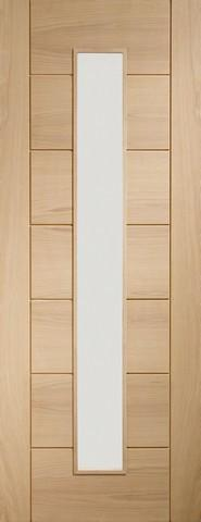 XL Joinery Internal Oak Palermo 1 Light with Clear Glass Door-Door Store Rotherham