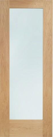 XL Joinery Internal Oak Pattern 10 with Clear Glass Fire Door-Door Store Rotherham