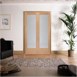 XL Joinery Internal Oak Suffolk Clear Glass Door Pair-Door Store Rotherham
