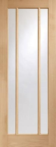 XL Joinery Internal Oak Worcester 3 Light with Clear Glass Fire Door-Door Store Rotherham