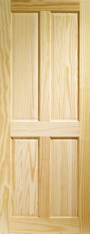 XL Joinery Internal Vertical Grain Clear Pine Edwardian 4 Panel Door-Door Store Rotherham