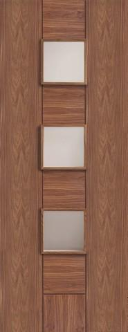 XL Joinery Internal Walnut Pre-Finished Messina with Clear Glass Door-Door Store Rotherham