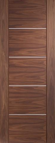 XL Joinery Internal Walnut Pre-finished Portici Fire Door-Door Store Rotherham