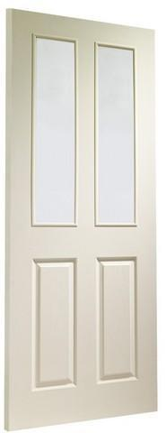 XL Joinery Internal White Moulded Victorian with Clear Glass Door-Door Store Rotherham