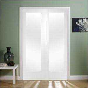 XL Joinery Internal White Primed Pattern 10 Clear Glass Door Pair-Door Store Rotherham