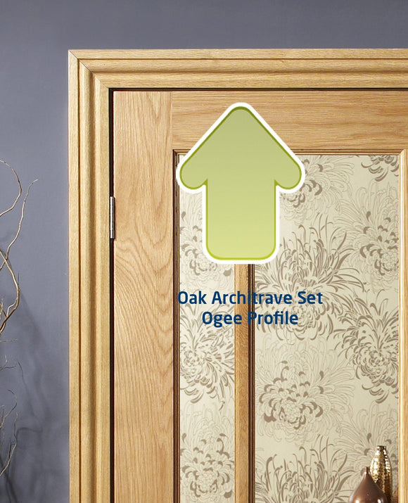 XL Joinery Oak Door Architrave Set in a Classic 'Ogee' profile - Fits both sides of the Door-Door Store Rotherham
