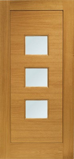 XL Joinery Pre-Finished External Oak Double Obscure Glazed Turin Door Set-Door Store Rotherham