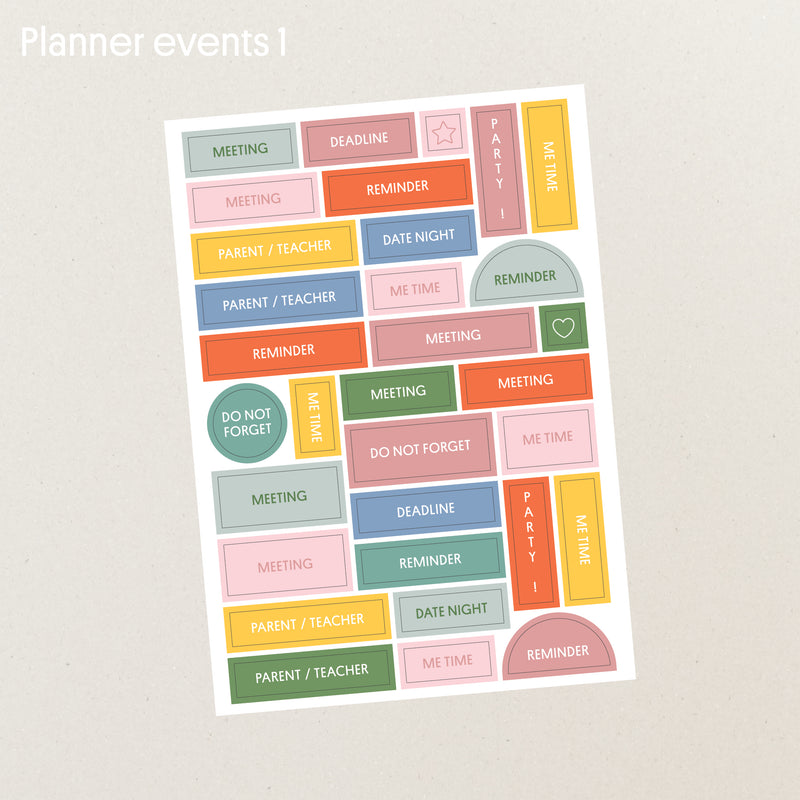 Planner sticker set - Blue