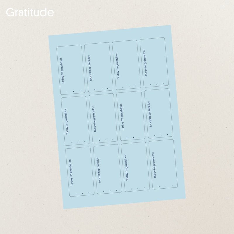 Gratitude sticker set