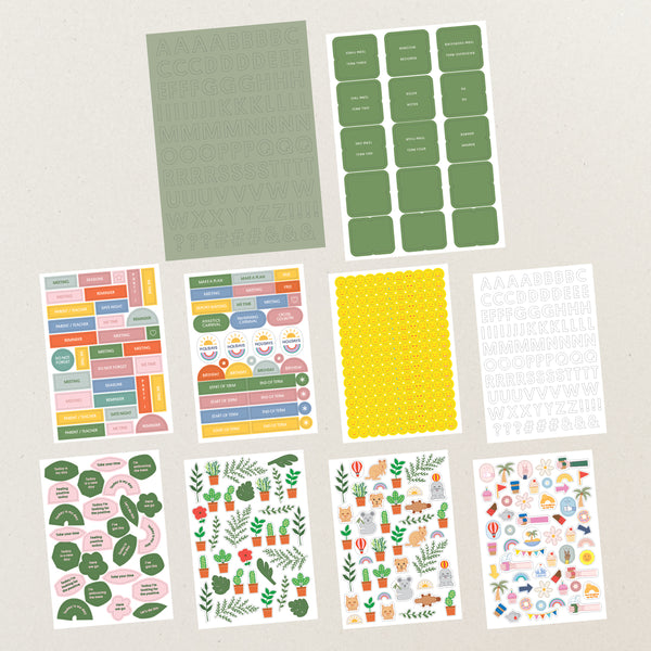 Planner sticker set - Green