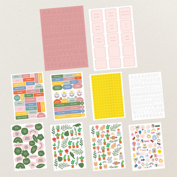 Planner sticker set - Pink