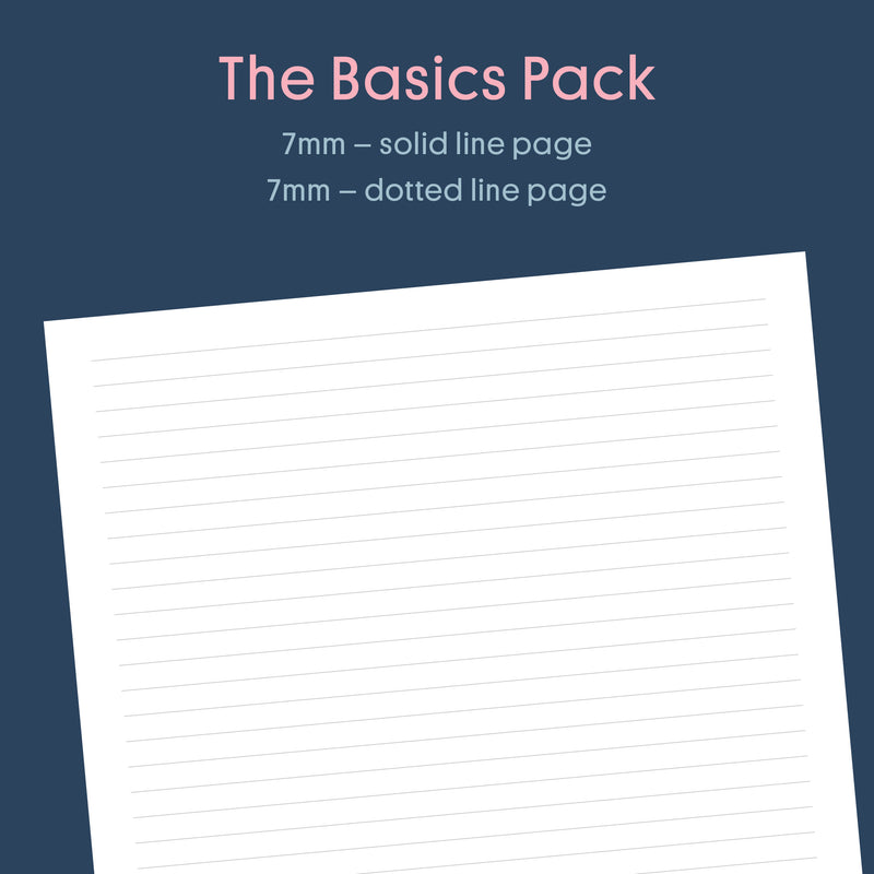 Printable: Basics Pack - Lined, Grid, Dot Grid A4 Pages