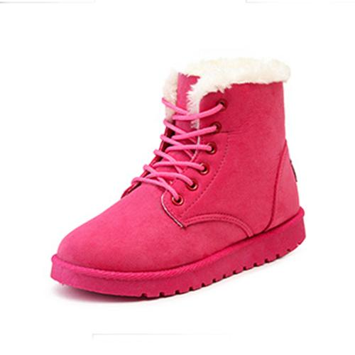 e833356c9551c 2017 New 8 Colors Ankle Boots For Women Solid Flat Casual Women Snow Boots  Lace-