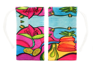 TROPICAL SWEETS  - CL24-TS (Pouches for Sunglasses & Glasses) Bag Clean Glasses