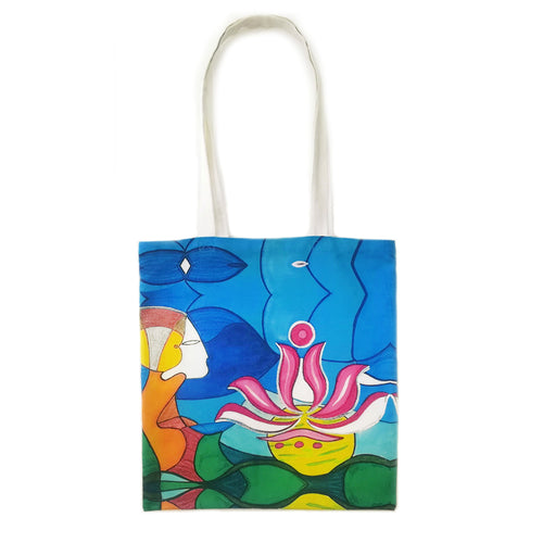LOOKING INSIDE THE LOTUS (Tote Bag) Bag Multipurpose