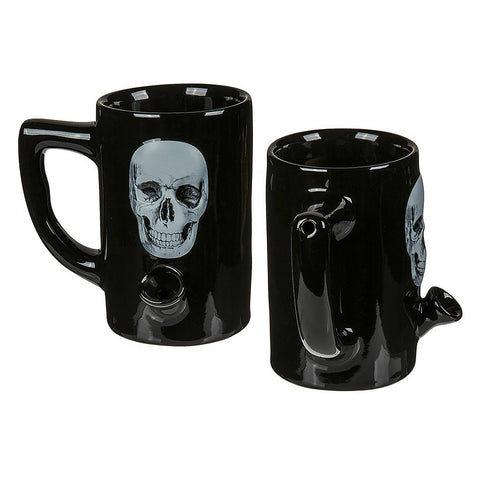 MugBongs - Black Skull Mug With Water Pipe