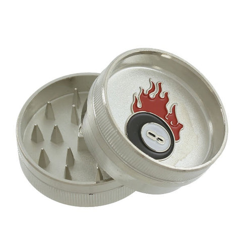 Flaming 8 Ball Grinder - 2 Part Metal
