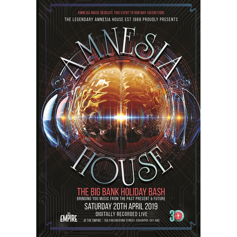 Amnesia House - The Big Bank Holiday Bash - 2019