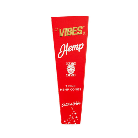 Vibes - King Size Hemp - Pre Rolled Cones 3 Pack
