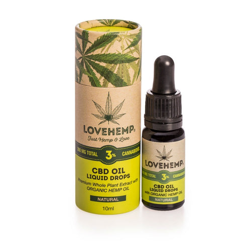 Love Hemp™ CBD Hemp Oil 10ml ‐ 300mg 3% CBD+CBDa
