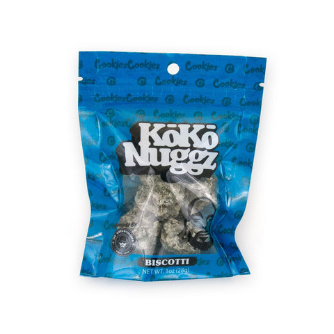 KoKo Nuggz - Biscotti Flavour Chocolate Budz 1oz Snack Baggie - By Cookies SF