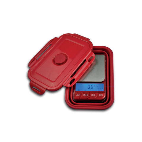 Kenex - Red Omega Digital Scale With Folding Bowl 200g - 0.01g