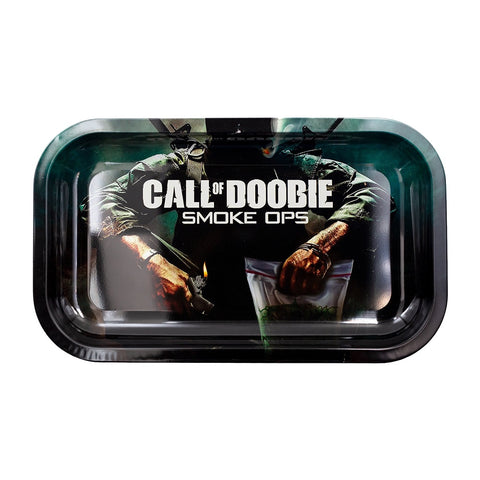 Call Of Doobie - Metal Rolling Tray by V Syndicate