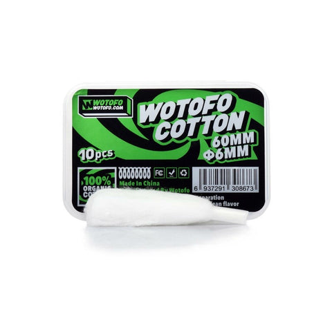 Wotofo - Profile RDA 6mm Agleted Cotton (Pack of 10)