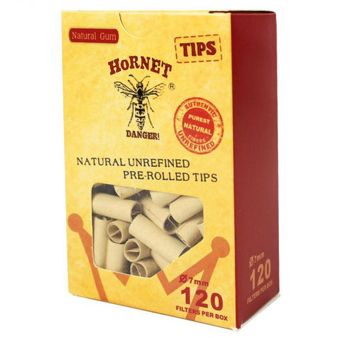 Hornet - Unbleached Hemp Pre-Rolled Tips – Box of 120