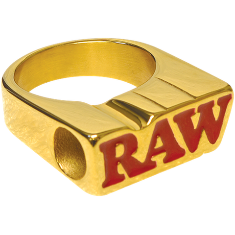 RAW Smokers 24K Gold Plated Ring with tapered Tip hole