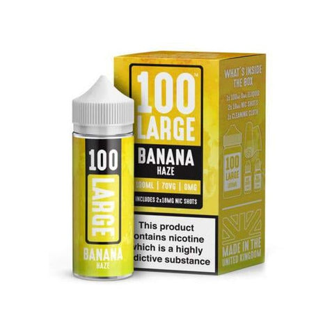 100 Large - Premium E-Liquid 100ml Shortfill + 2 x Free Nic Shots