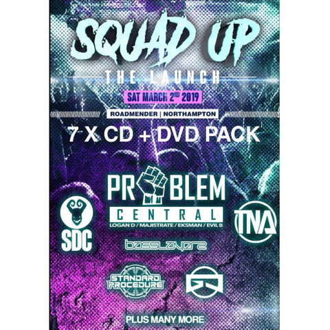 Squad Up - The Launch 2019  DnB CD Pack
