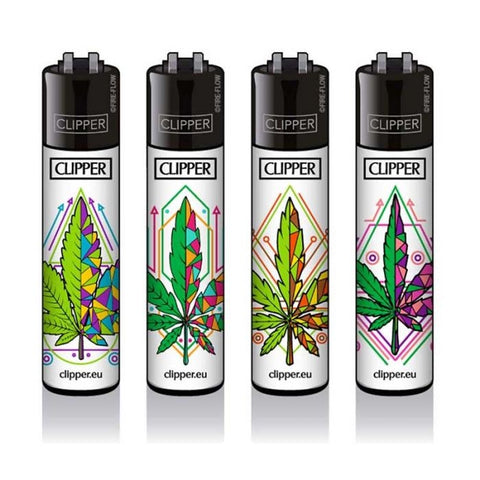 Clipper Lighters - Geometric Leaves